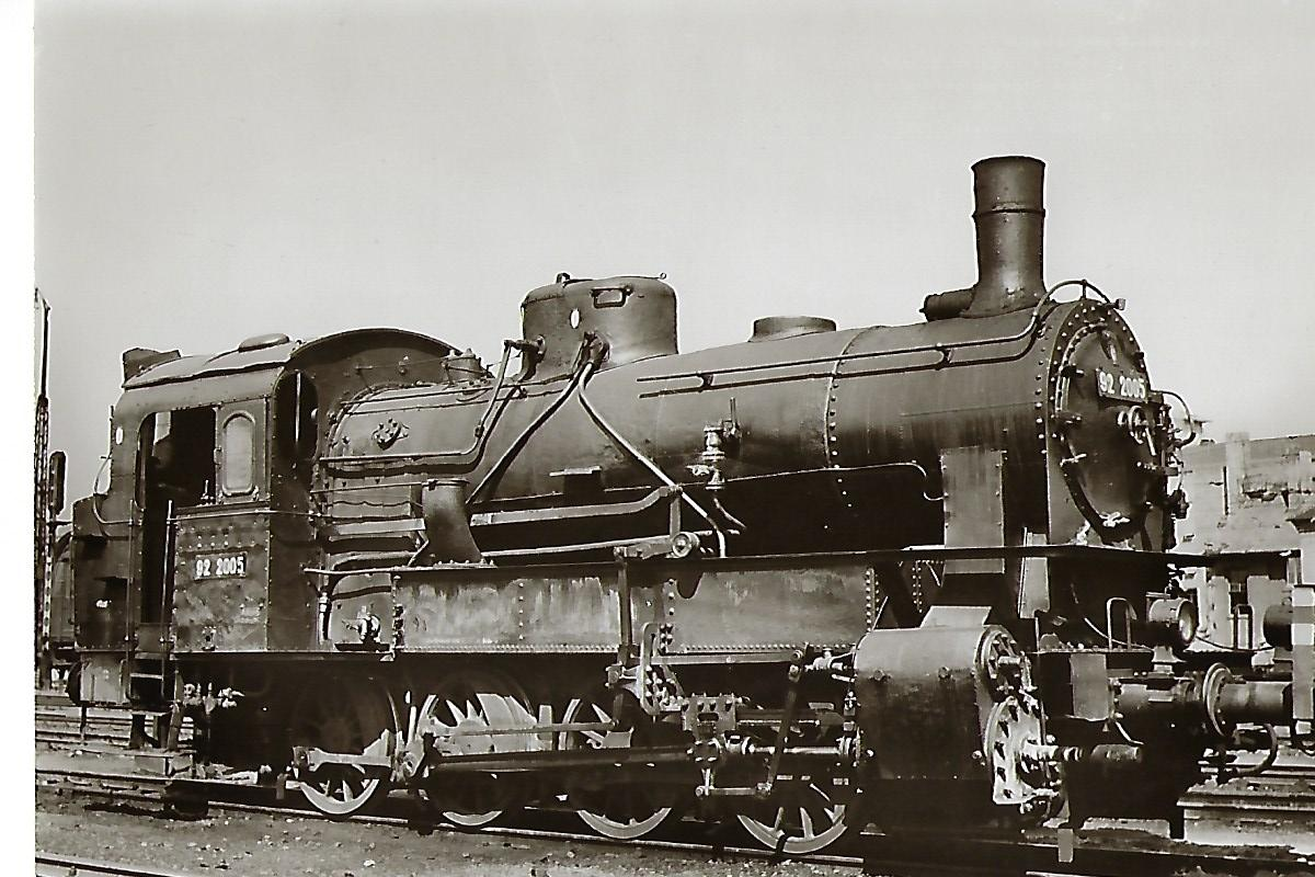 Güterzug-Tenderlokomotive 92 2005. Krauss & Cie 1915. Eisenbahn Bestell-Nr. 1058