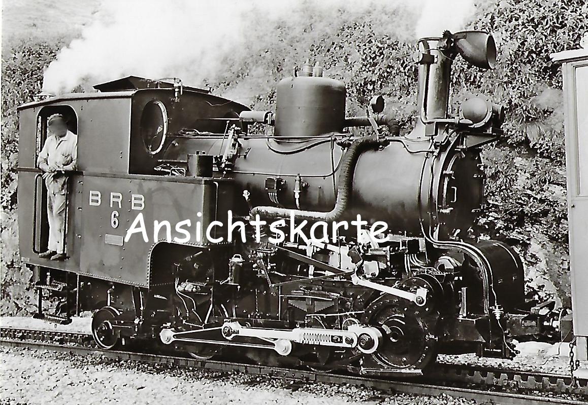 Dampflokomotive Nr. 6 der Brienz-Rothorn-Bahn, Winterthur 1933 (1092)