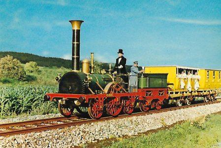 """Erste deutsche Eisenbahn: Lokomotive """"Adler"""" (1130)"""