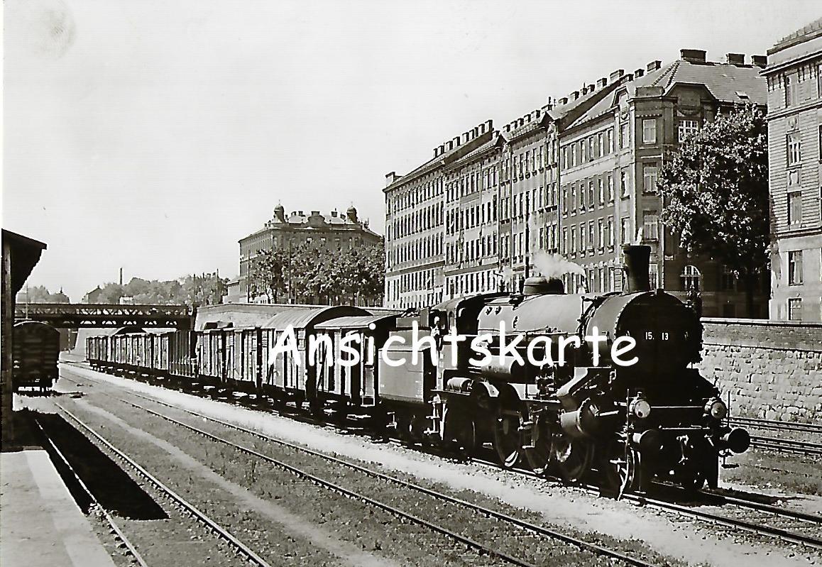 ÖBB Schnellzug-Lokomotive 15.13. im Bf. Ottakring am 16.5.1957 (1169)