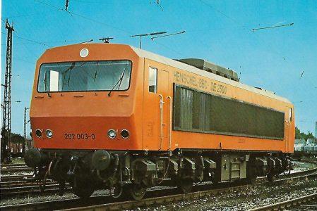 Henschel-BBC DE 2500 Diesel-elektrische Versuchslokomotive. Eisenbahn Bestell-Nr. 1187