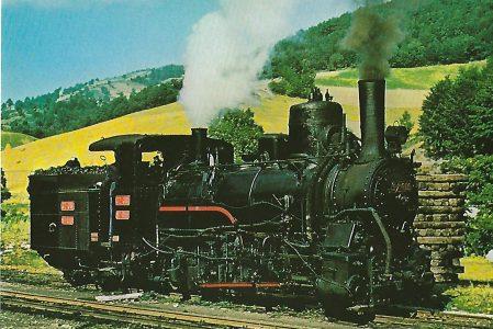 Schmalspur-Zahnrad-Dampflokomotive, 1908. Bosnisch-Herzegowinische Staatsbahnen Eisenbahn Bestell-Nr. 1218