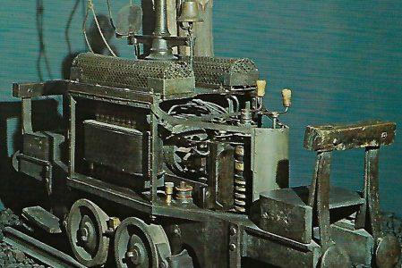 Erste elektrische Grubenlokomotive (1882). Eisenbahn Bestell-Nr. 1224