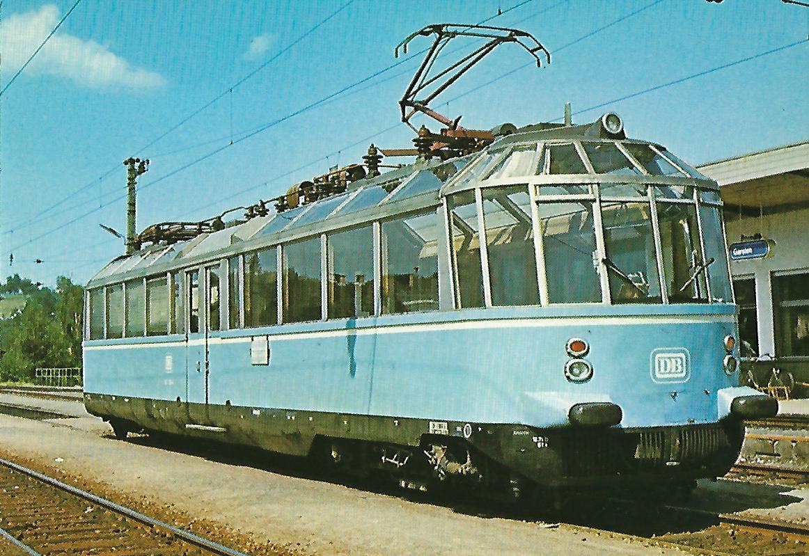 """Elektr. Triebwagen 491 001-4 """"Gläserner Zug"""". Eisenbahn Bestell-Nr. 1240"""