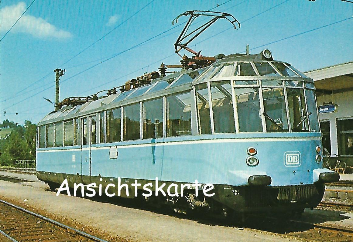 """Elektr. Triebwagen 491 001-4 """"Gläserner Zug"""". (1240)"""