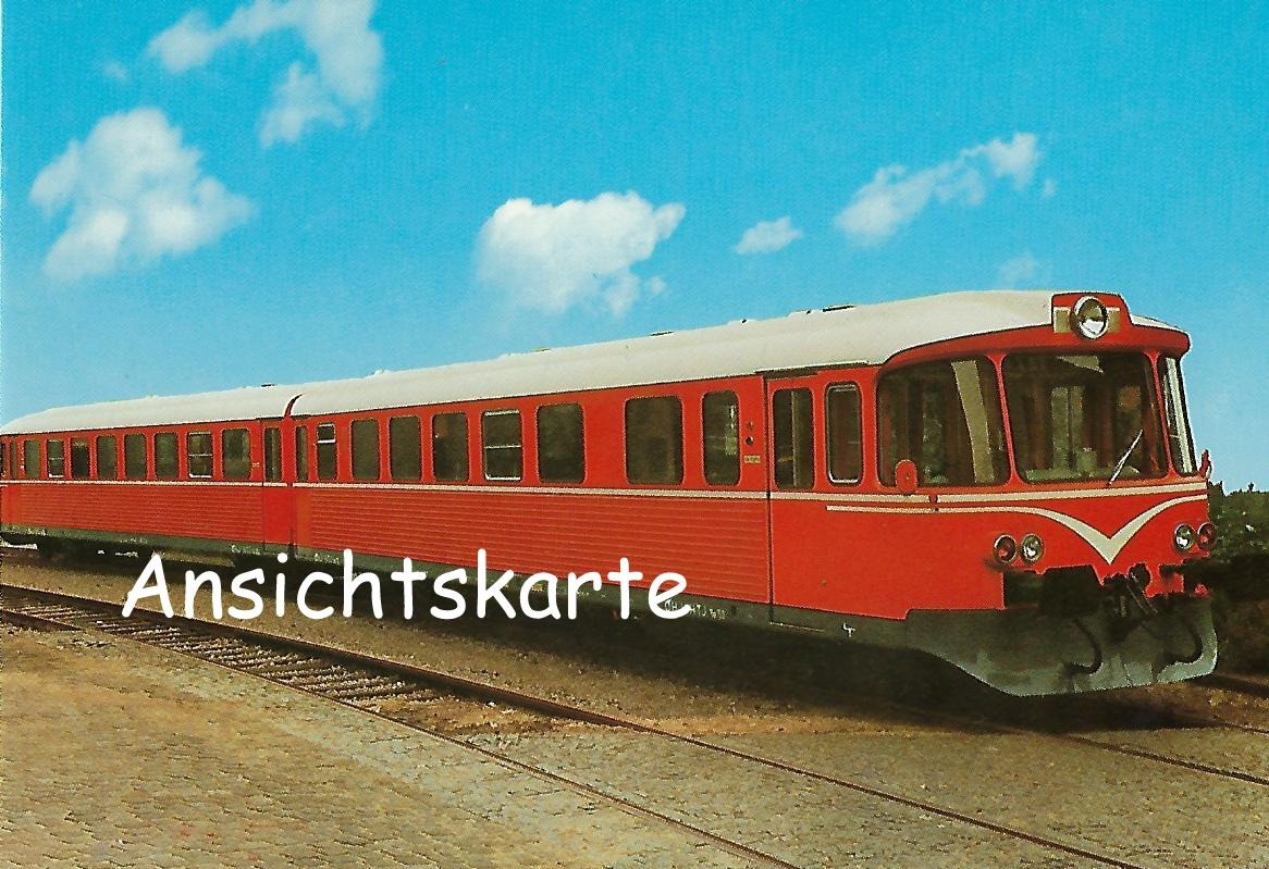 Dänische Privatbahn. Zweiteiliger Dieseltriebzug Ym 53/Yv 253 (1252)
