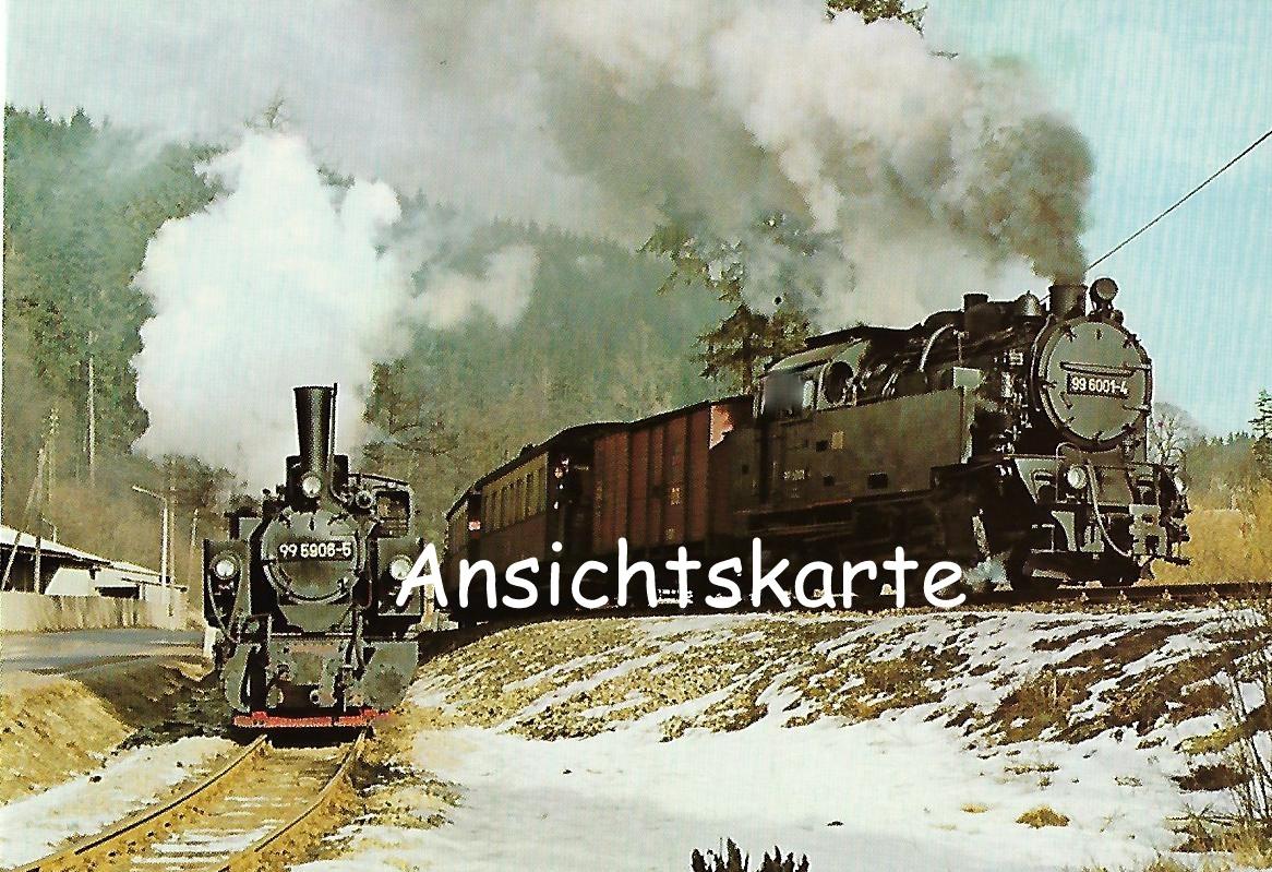 Selketalbahn: Doppelausfahrt aus Bf. Alexisbad. Eisenbahn Bestell-Nr. 1260