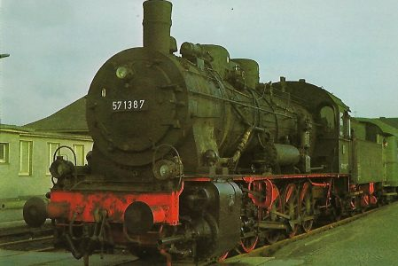 DB Güterzug-Lokomotive 57 1387 in Fröndenberg. Eisenbahn Bestell-Nr. 1273