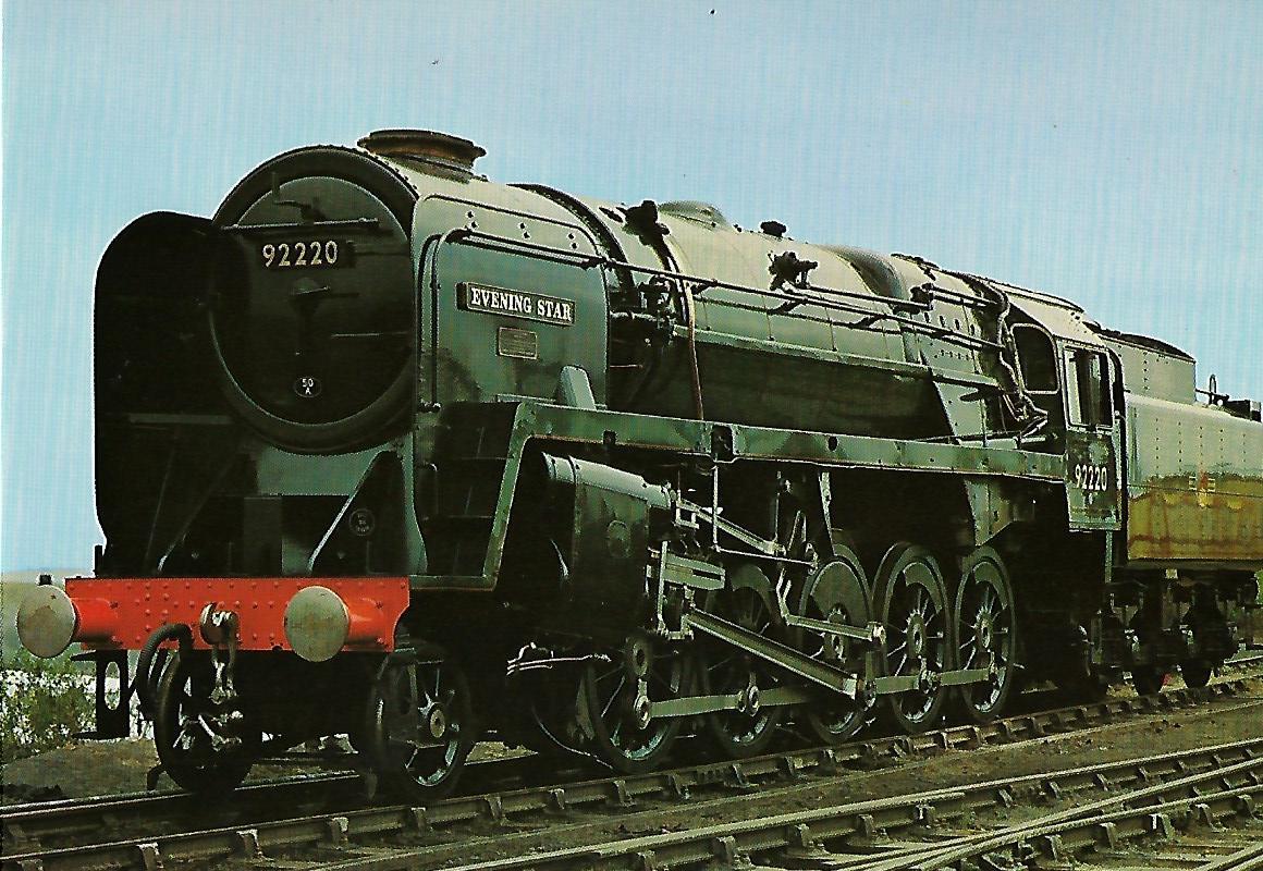 "British Railways Güterzuglokomotive Nr. 92 220 ""Evening Star"" in Rainhill. Liverpool and Manchester Railway. Eisenbahn Bestell-Nr. 1284"