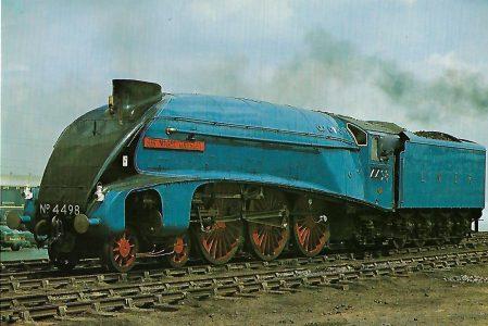 "British Railways Schnellzug-Lokomotive Nr. 4498 ""Sir Nigel Gresley""in Rainhill. Liverpool and Manchester Railway. Eisenbahn Bestell-Nr. 1285"