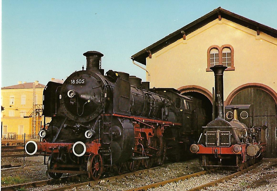 """Lokomotiven 18 505 und """"Die Pfalz"""". (5160)"""