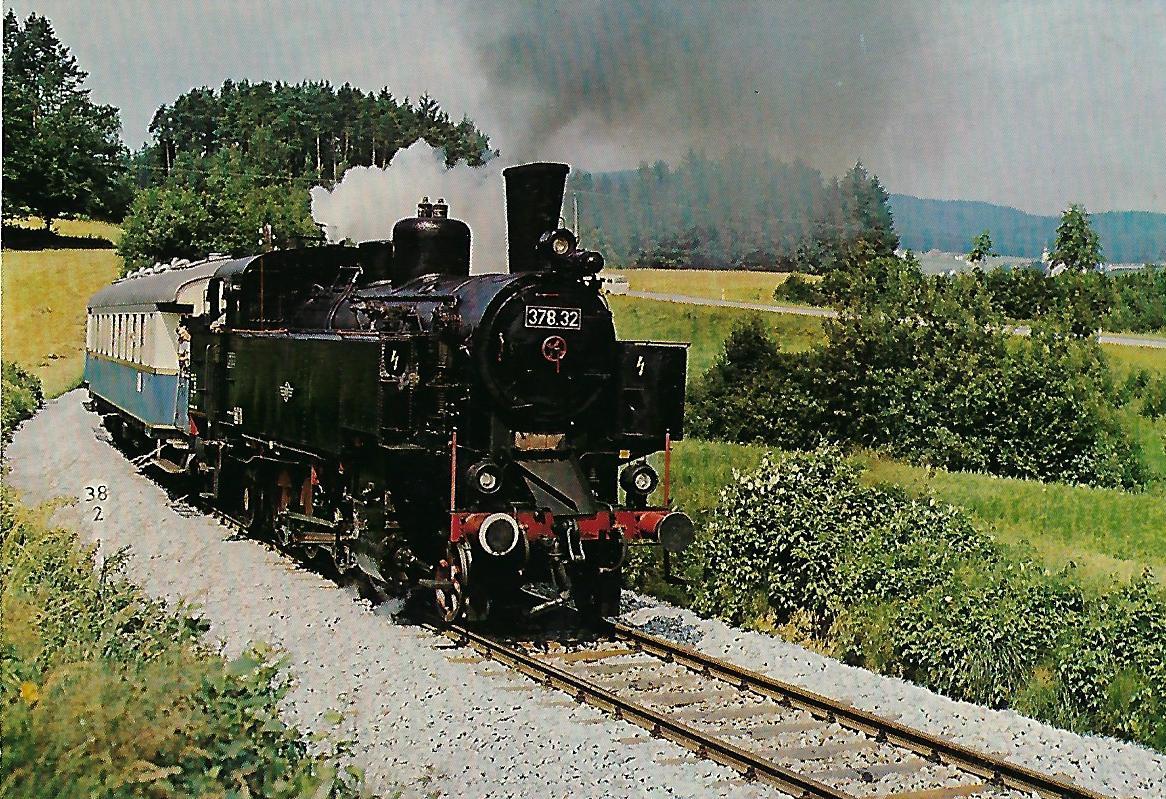 Dampflokomotive 378.32 – Regentalbahn. (10204)