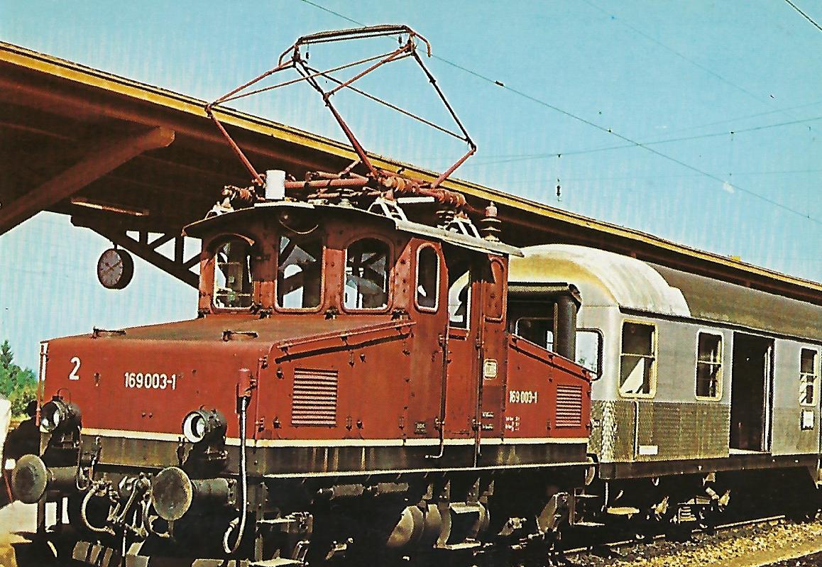 DB 169 003 im Bahnhof Murnau. (10223)