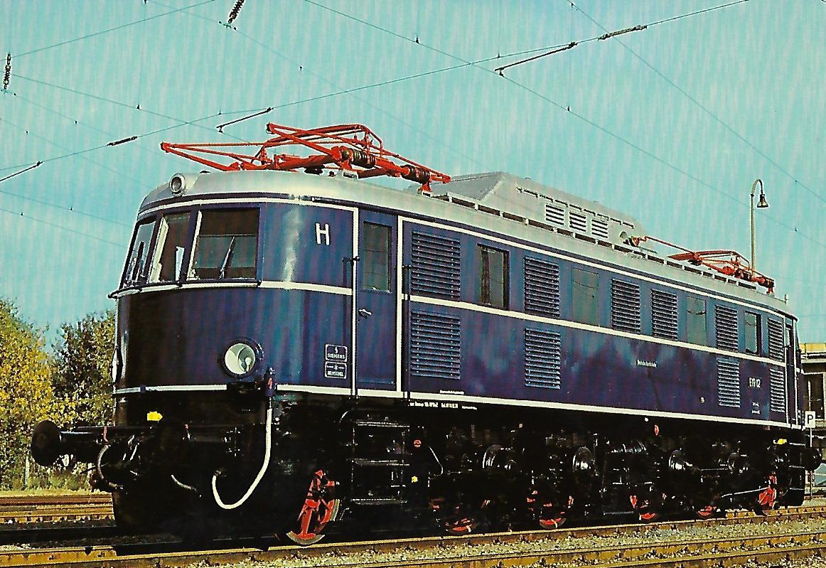 E 19 12 Elektrische Schnellzuglokomotive. (10259)