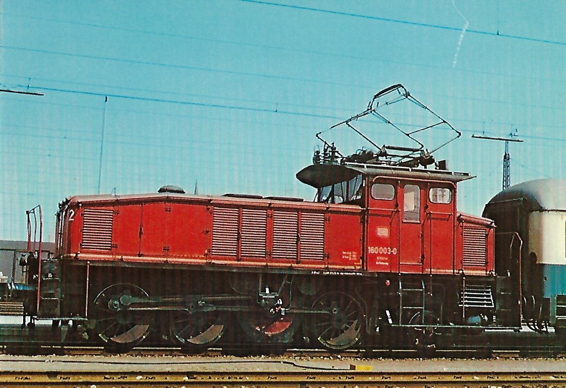 160 003-0 Elektrische Rangierlokomotive. (10269)
