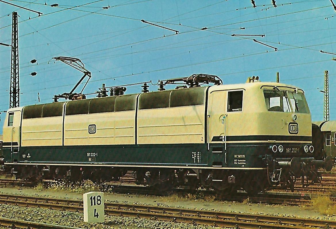 181 222-1 Elektrische Lokomotive. (10273)