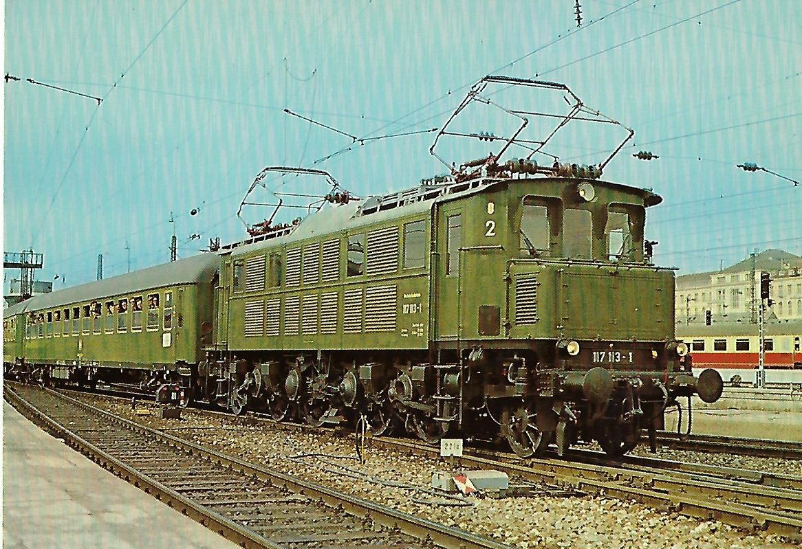 117 113-1 Elektrische Schnellzuglokomotive. (10278)