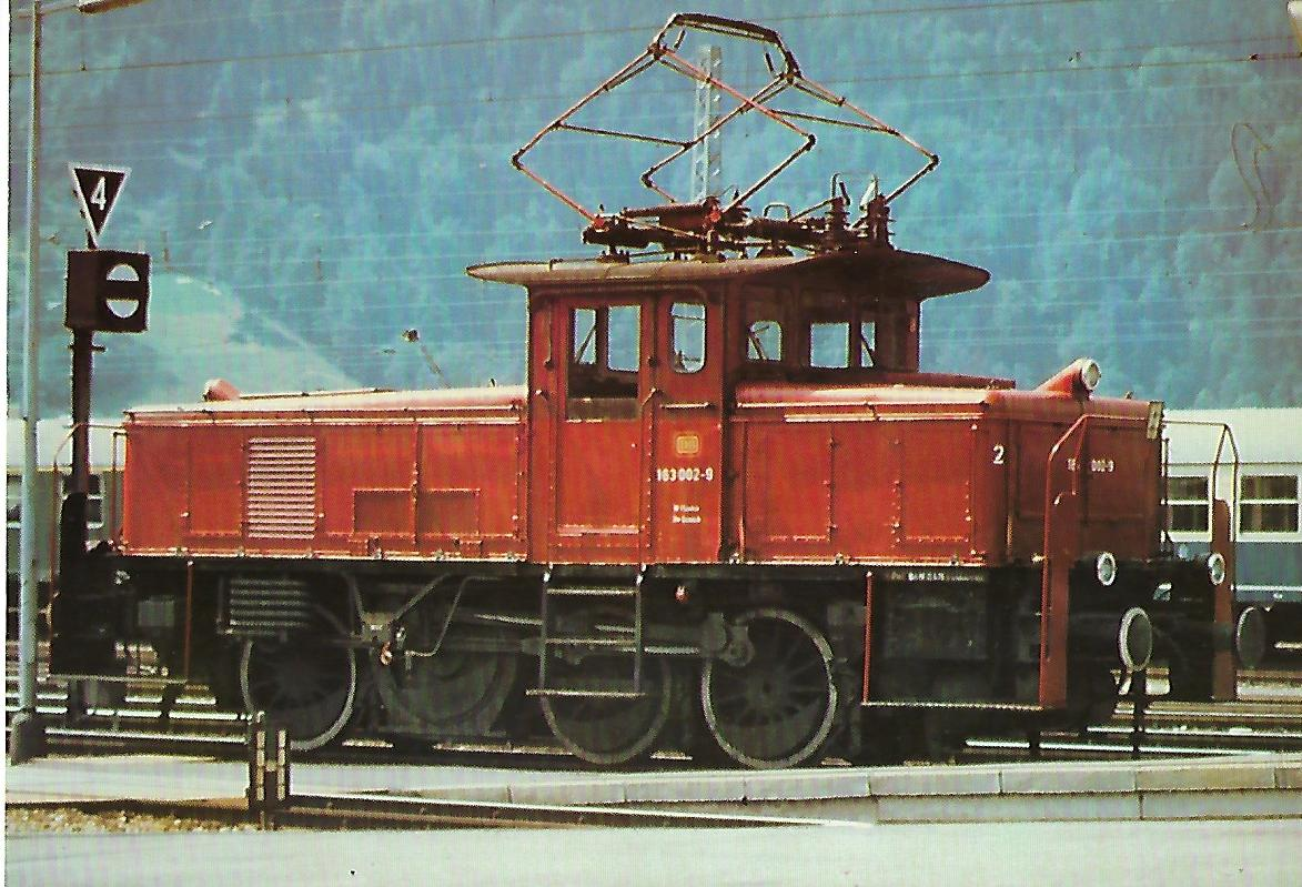 Elektr. Rangierlokomotive 163 002-9. (10284)