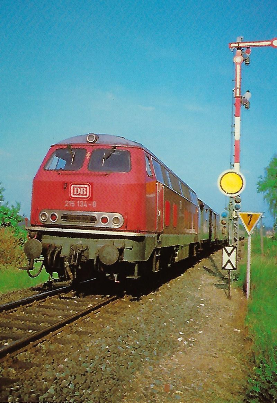 215 134-8 DB Dieselhydraulische Lokomotive bei Langlau/Mfr. (10296)