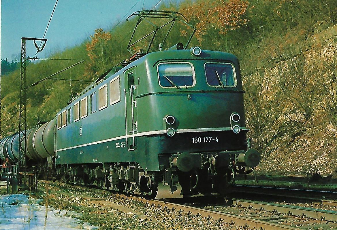 150 177-4 auf der Geislinger Steige. Eisenbahn Bestell-Nr. 10304