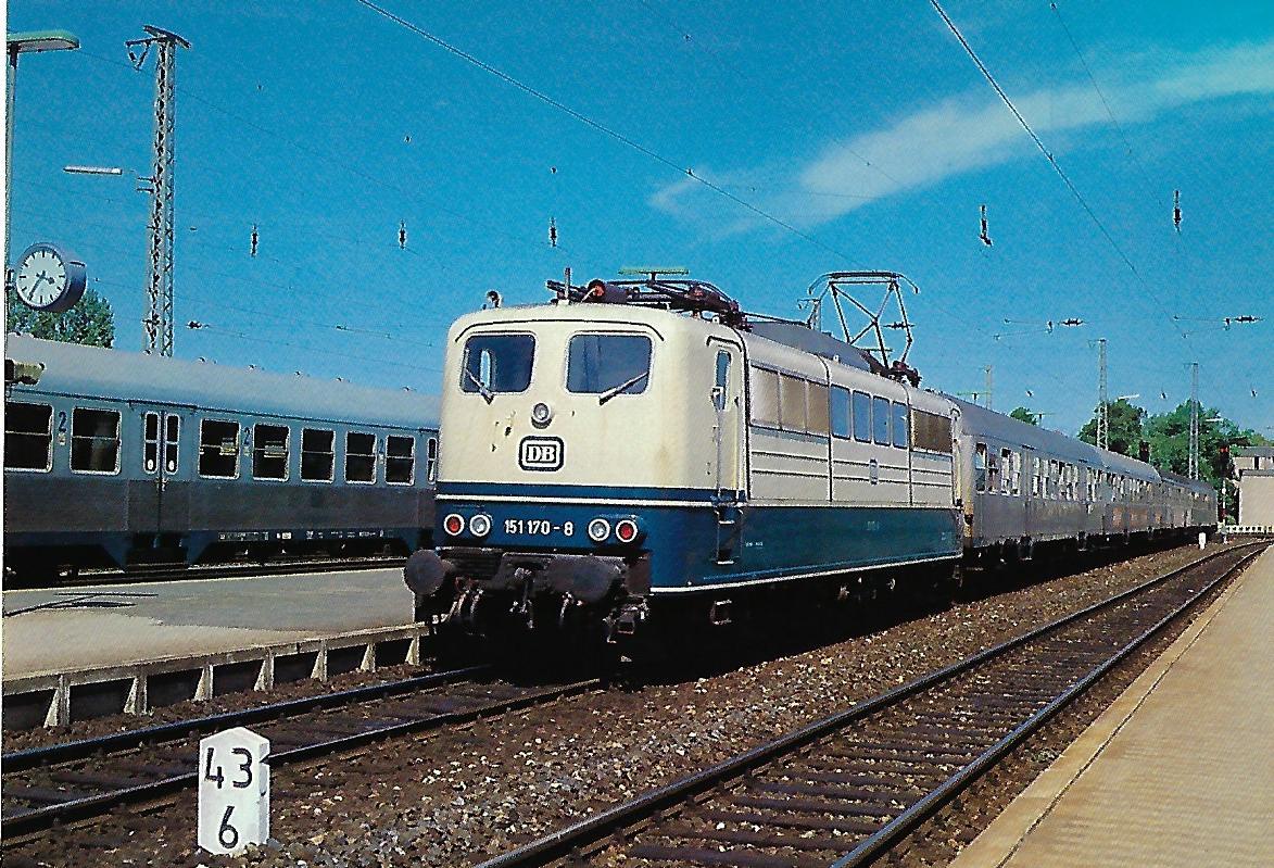 151 170-8 DB elektrische Lokomotive in Ansbach. Eisenbahn Bestell-Nr. 10312