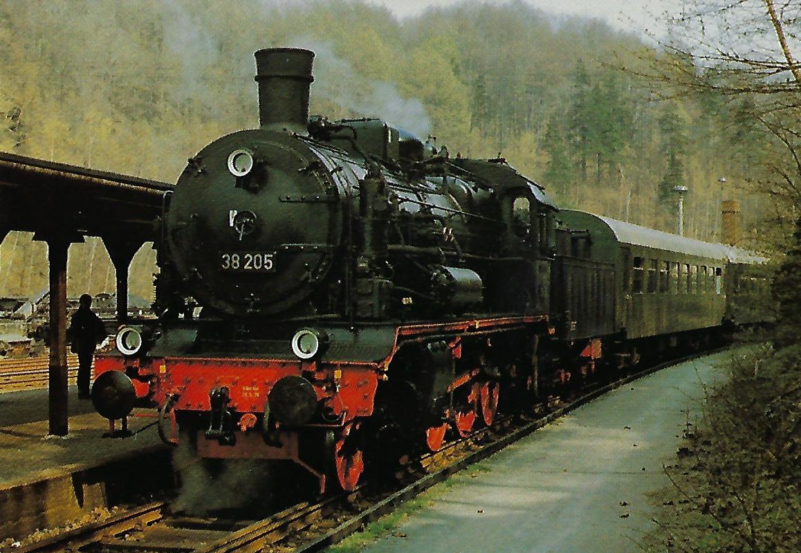 38 205 DR (früher: Sächsische XII H2). (10314)