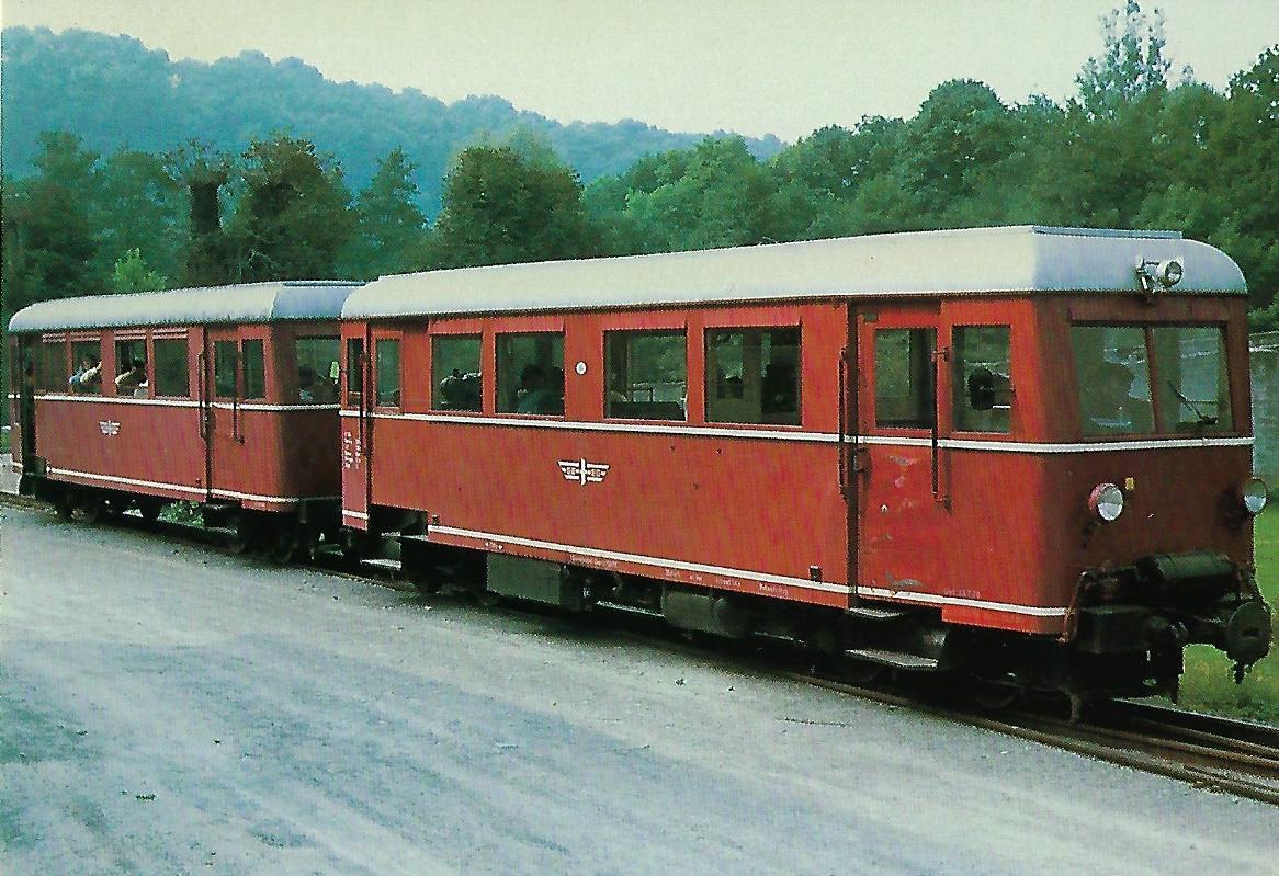 VT 300 Schmalspurtriebwagen im Bhf. Schöntal. (10326)