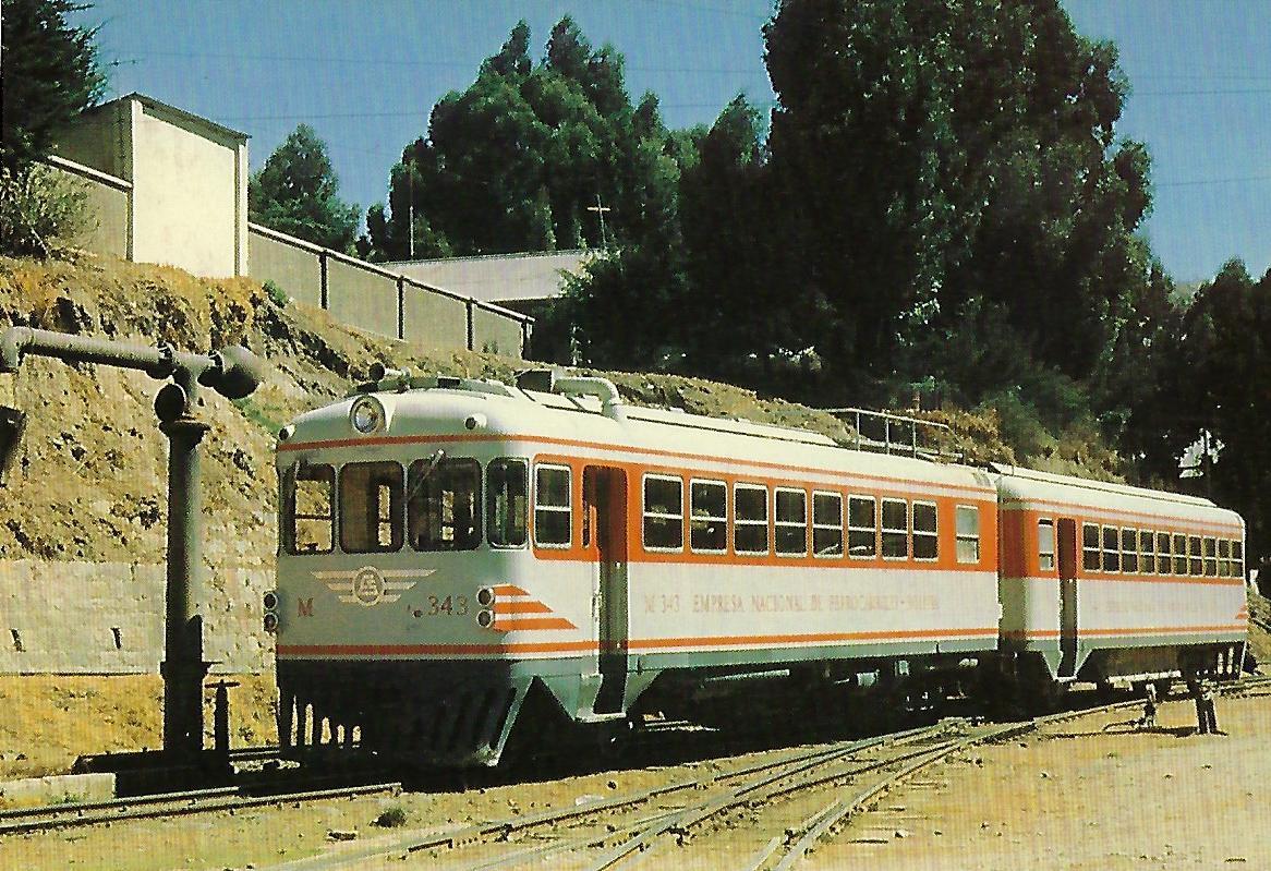 Zweiteiliger Schienenbus Nr. 343, Bolivien. (10335)