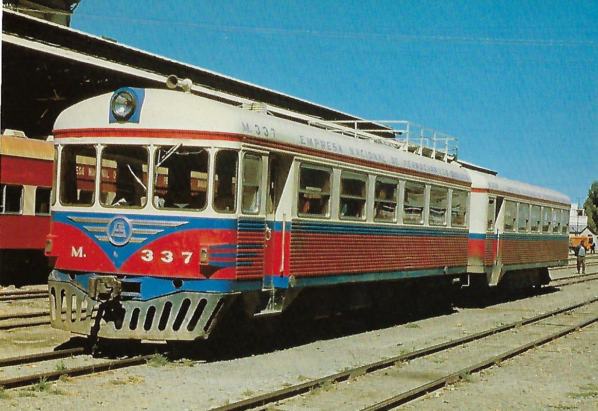 Zweiteiliger Schienenbus Nr. 337, Bolivien. (10337)