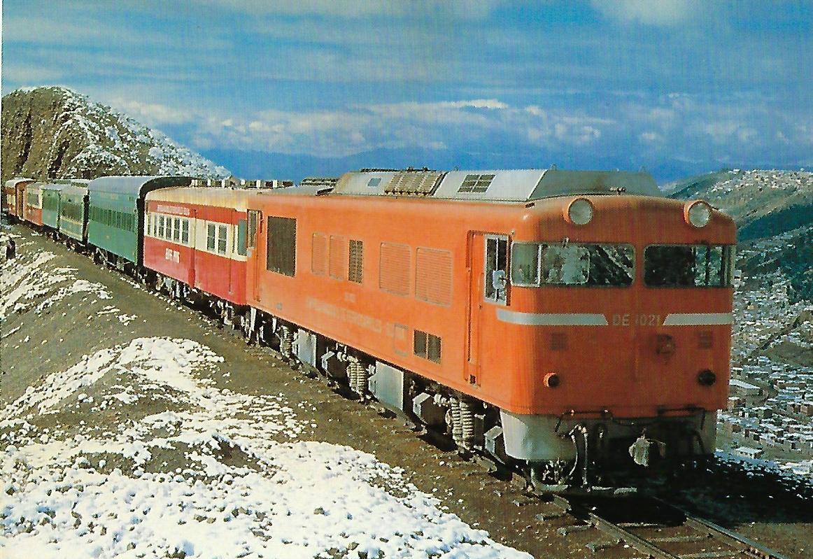 Dieselelektrische Lokomotive DE 1021, Bolivien. (10338)