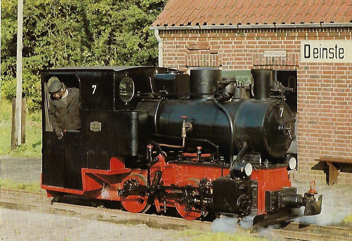 DFKM Dampflokomotive Nr. 7, Deinste bei Stade. (10342)