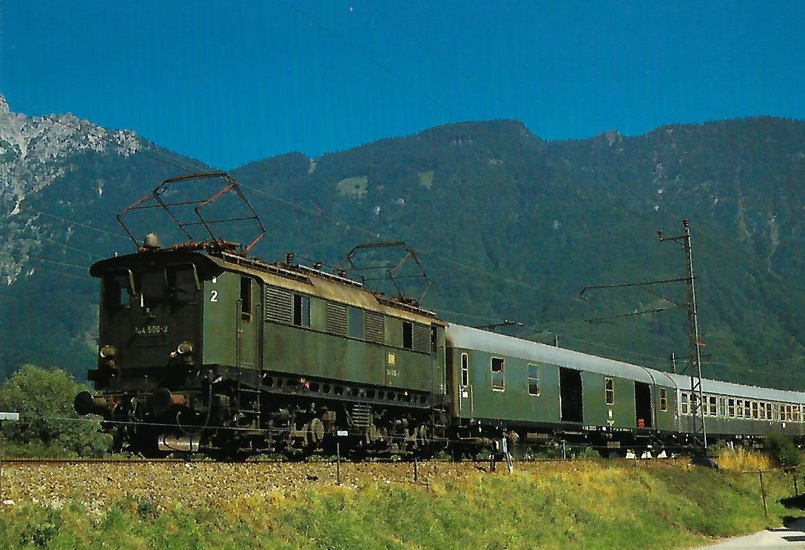 DB 144 506-3 bei Bad Reichenhall. (10352)