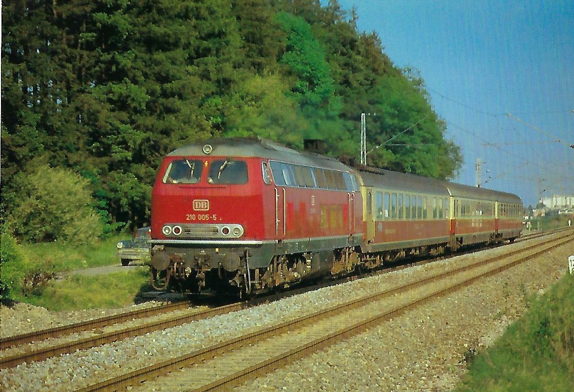 DB, Gasturbinen-Lokomotive 210 055-5. (10353)