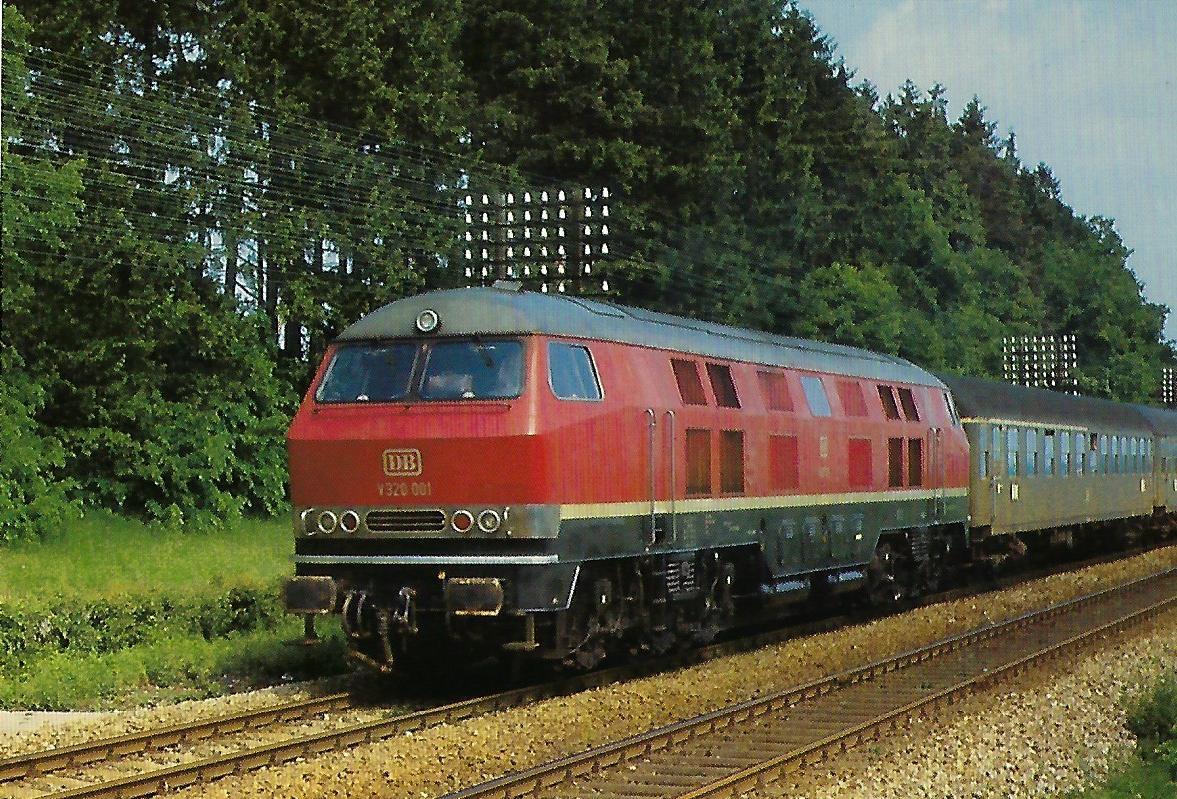 DB, dieselhydraulische Lokomotive V 320 001. (10362)