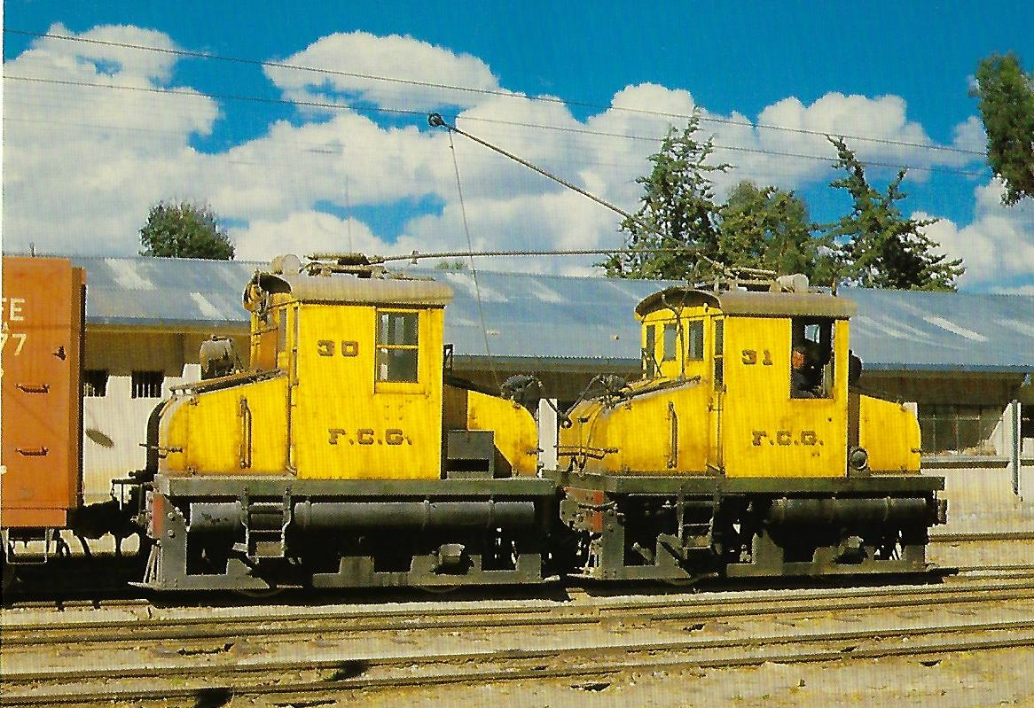 Bolivien, elektr. Lokomotiven Nr. 30 und 31. (10363)