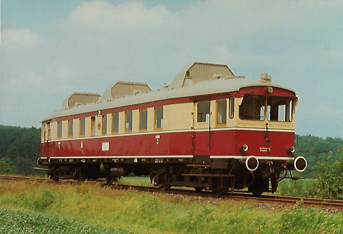 Buxtehude-Harsefelder Eisenbahnfreunde e.V., Triebwagen T 175. Eisenbahn Bestell-Nr. 10382