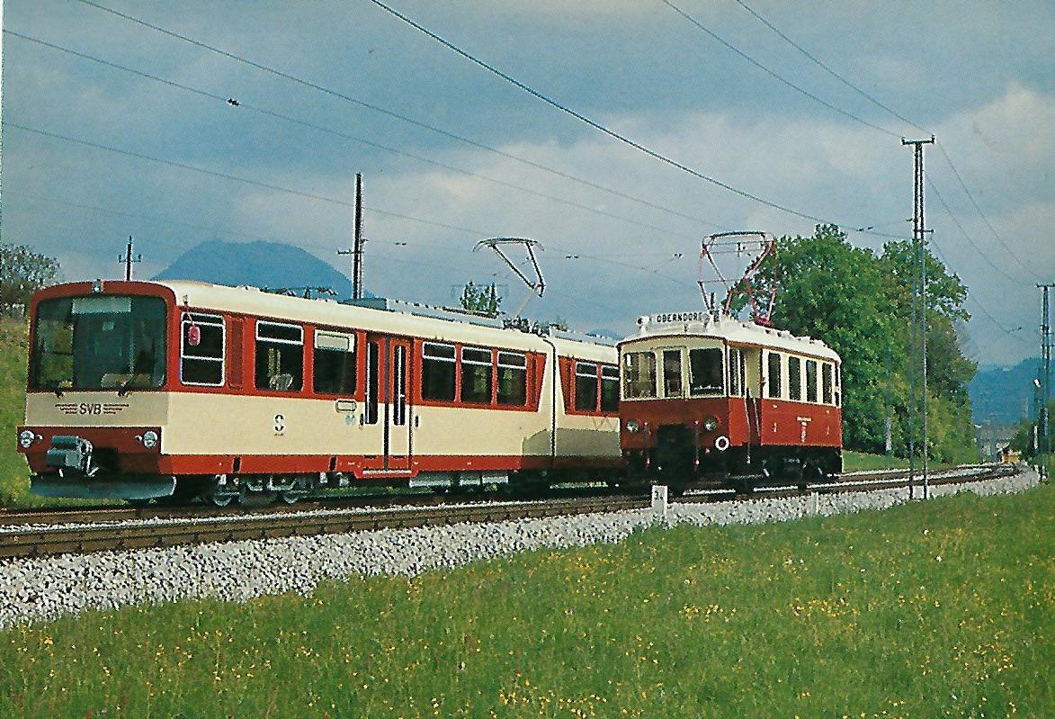 MBC 3 und ET 41 der Salzburger Eisenbahn & Tramway Gesellschaft. (5220)