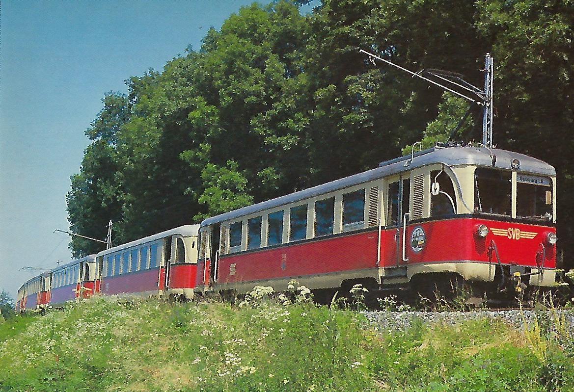 Tw 31, Baujahr 1951, 100 Jahre SETG-SVB Lokalbahnen 1886-1986. (5227)