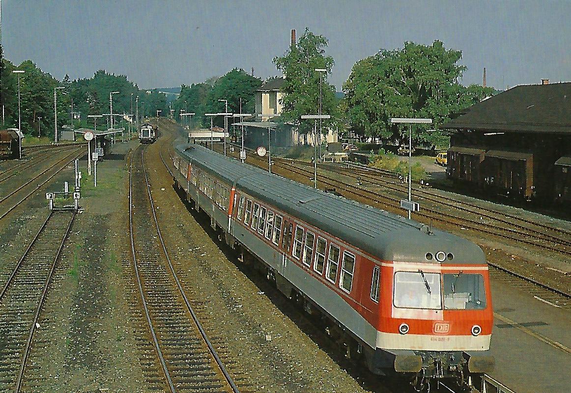 Tw 614 028 in Münchberg. (5309)