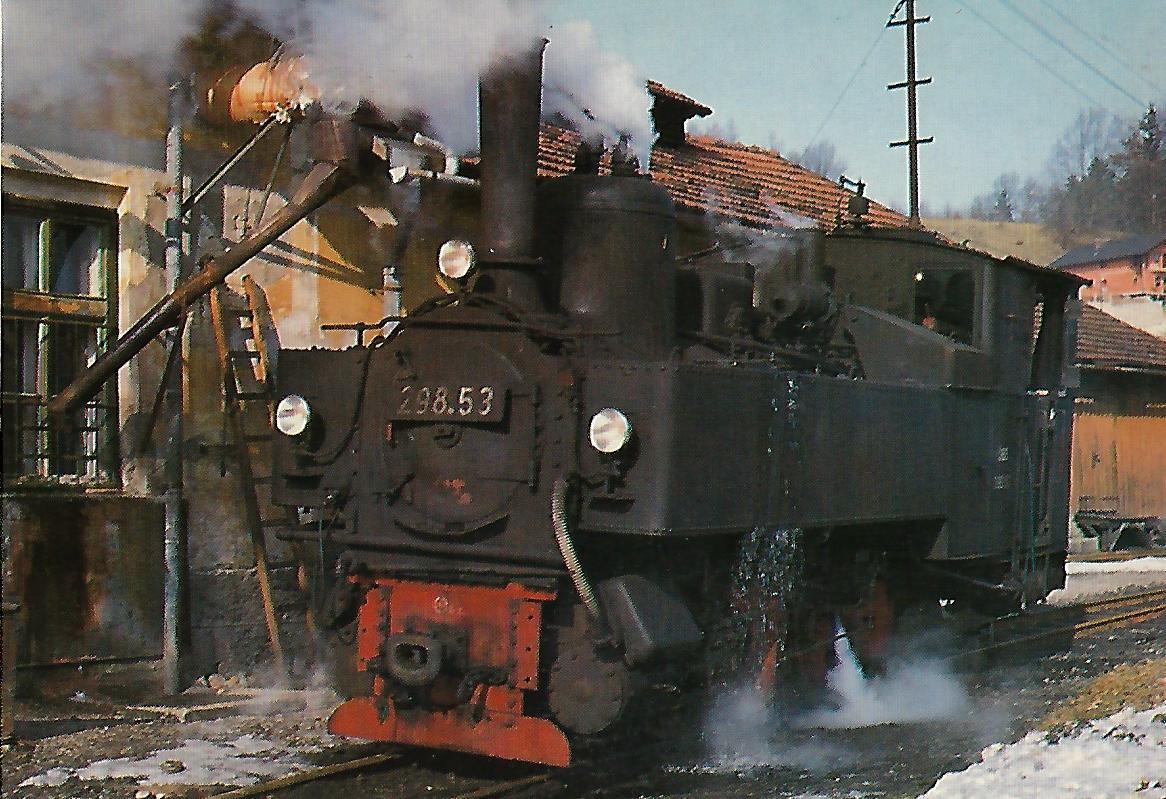 ÖGEG 298.53 am 4.2.1982 in Grünburg, Steyrtal-Bahn. (5319)