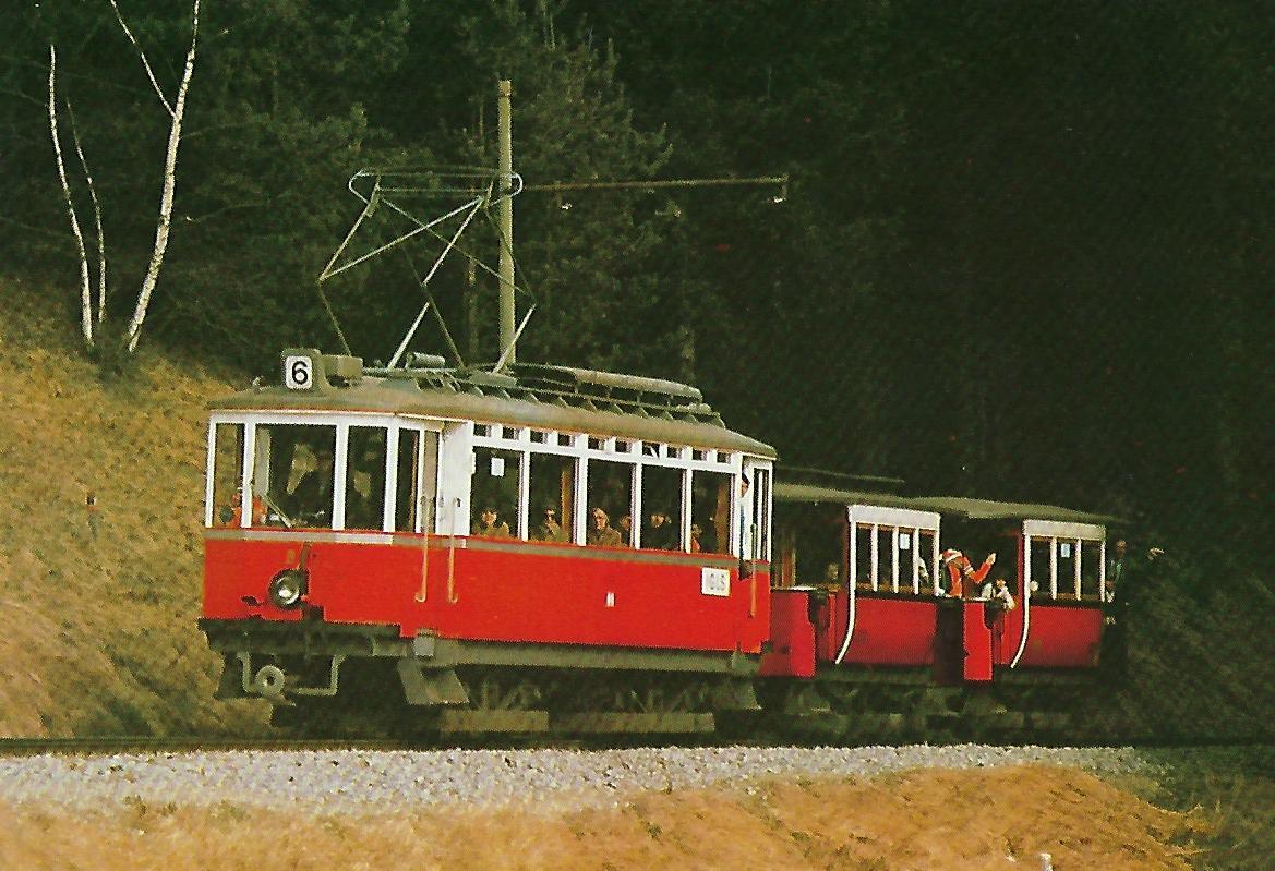 Innsbrucker Verkehrsbetriebe AG, elektr. Tw Nr. 3. Straßenbahn Bestell-Nr. 90660