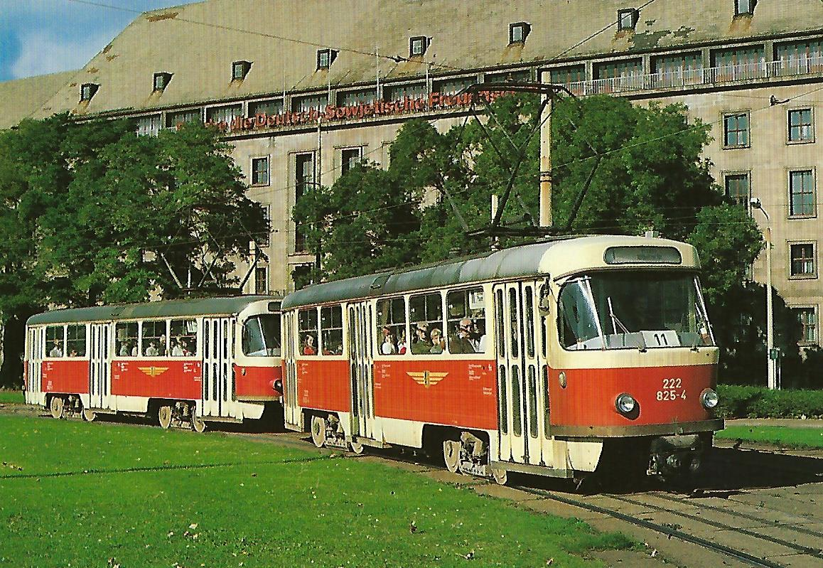 Straßenbahn Dresden, elektr. Tw 22-825-4. (90663)
