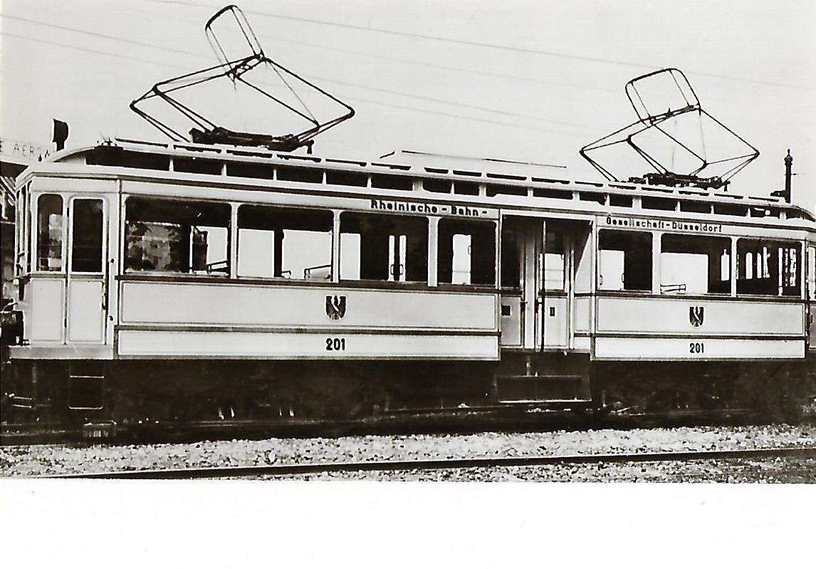 """Rheinische Bahn-Gesellschaft AG, Fernlinie """"K"""" Düsseldorf – Krefeld. (91120)"""