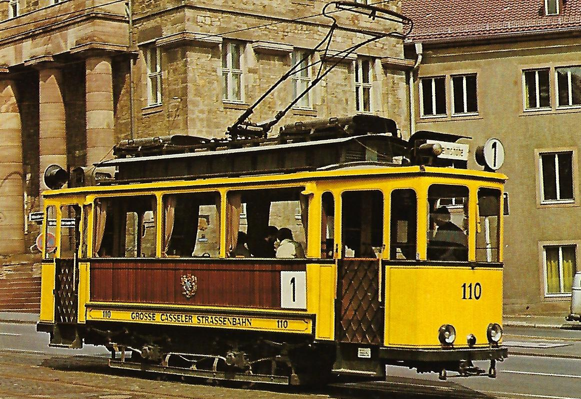 Kasseler Verkehrs-AG, Museumsfahrzeug Tw 110. Eisenbahn Straßenbahn Bestell-Nr. 1267