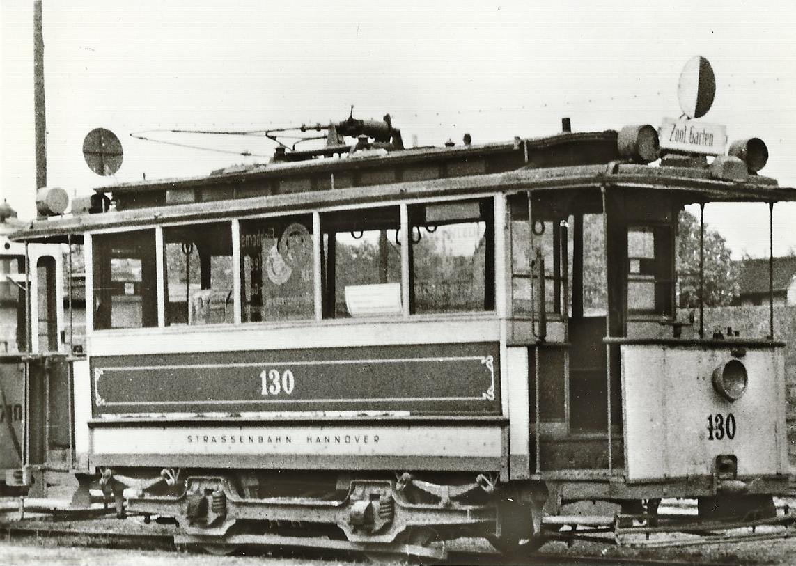 Straßenbahn Hannover Tw 130, Bj. 1896. (96042)