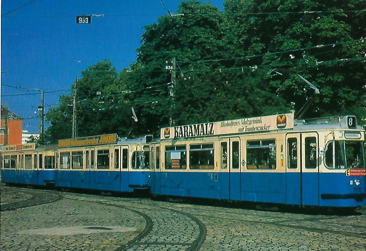 M 5.65-Triebwagen im Betriebshof Westendstraße. (99211)