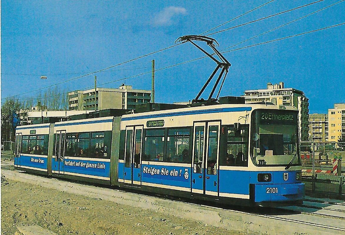 Niederflur-Gelenktriebwagen 2101. Straßenbahn Bestell-Nr. 99509
