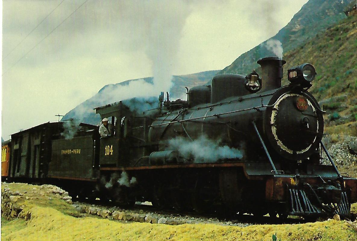ENAFER Peru,  Dampflokomotive Nr. 104. (10370)