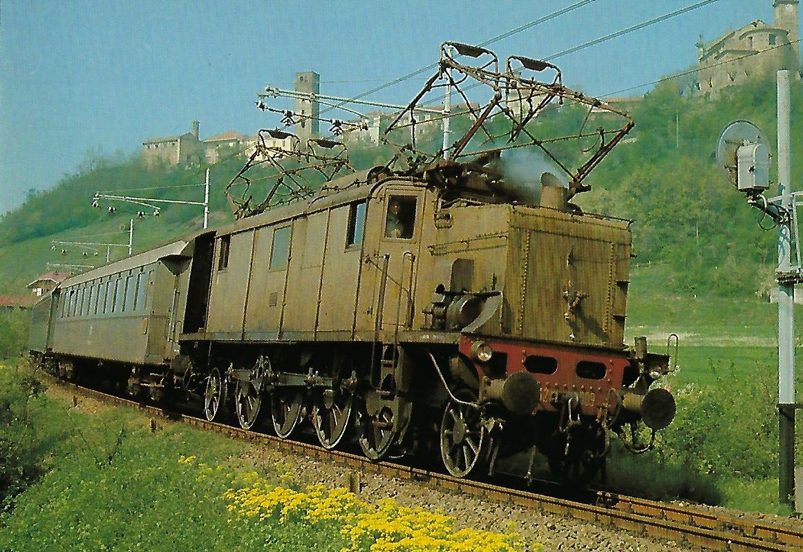 FS, Drehstromlokomotive E 432 009 auf der Strecke Acqui Terme – Savona. (10392)
