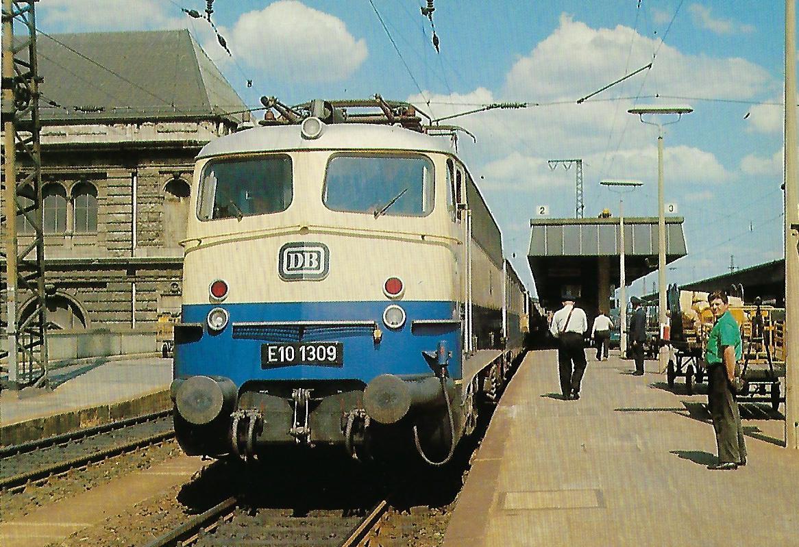 DB, Schnellzug-Lokomotive E 10 1309. Eisenbahn Bestell-Nr. 10394